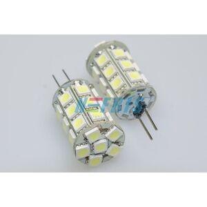 Interlook LED žárovka 5,4W 27xSMD5050 G4 450lm 12V DC Teplá bílá